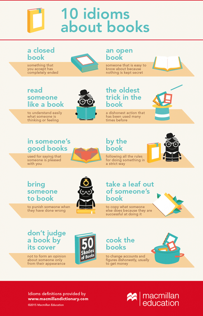 10 Idioms About Books Infographic
