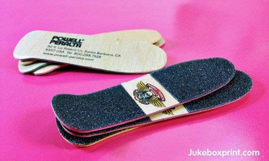5 Creative Business Card Ideas For Your Business - Skateboard